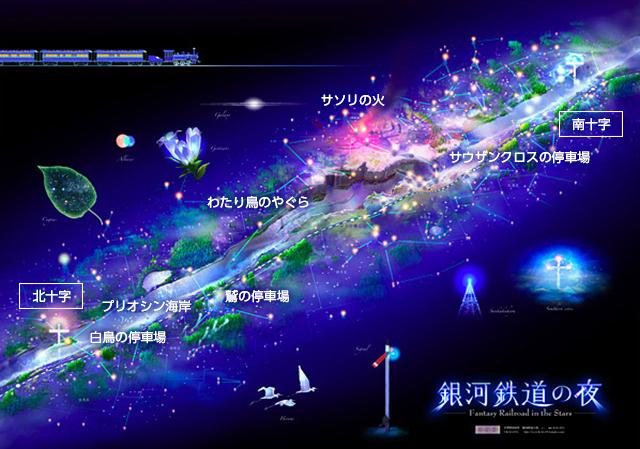 銀河鉄道の夜 路線図